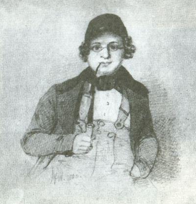 Josef Wagner, Ritratto di Eduard Mörike, 1840