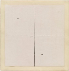 Carl Andre, now now, 1967