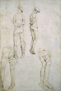 Pisanello - studio per impiccati