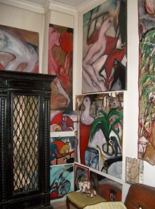 Interno della casa del poeta. Foto di Teresa Caligiure