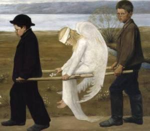 «L'angelo ferito» di Hugo Simberg