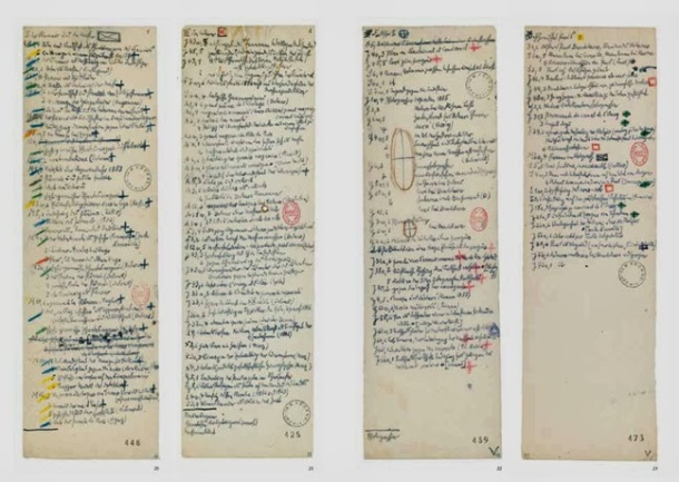 Benjamin's handwritten notes (Courtesy of BNF)