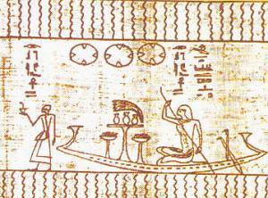 Particolare da un testo religioso-funerario egizio, che secondo gli ufologi rappresenterebbe tre dischi volanti
