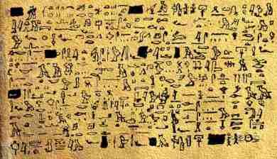 una delle trascrizioni del PapiroTulli circolanti in rete