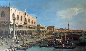 1730 Venezia_ La Riva Degli Schiavoni Verso Est Canaletto