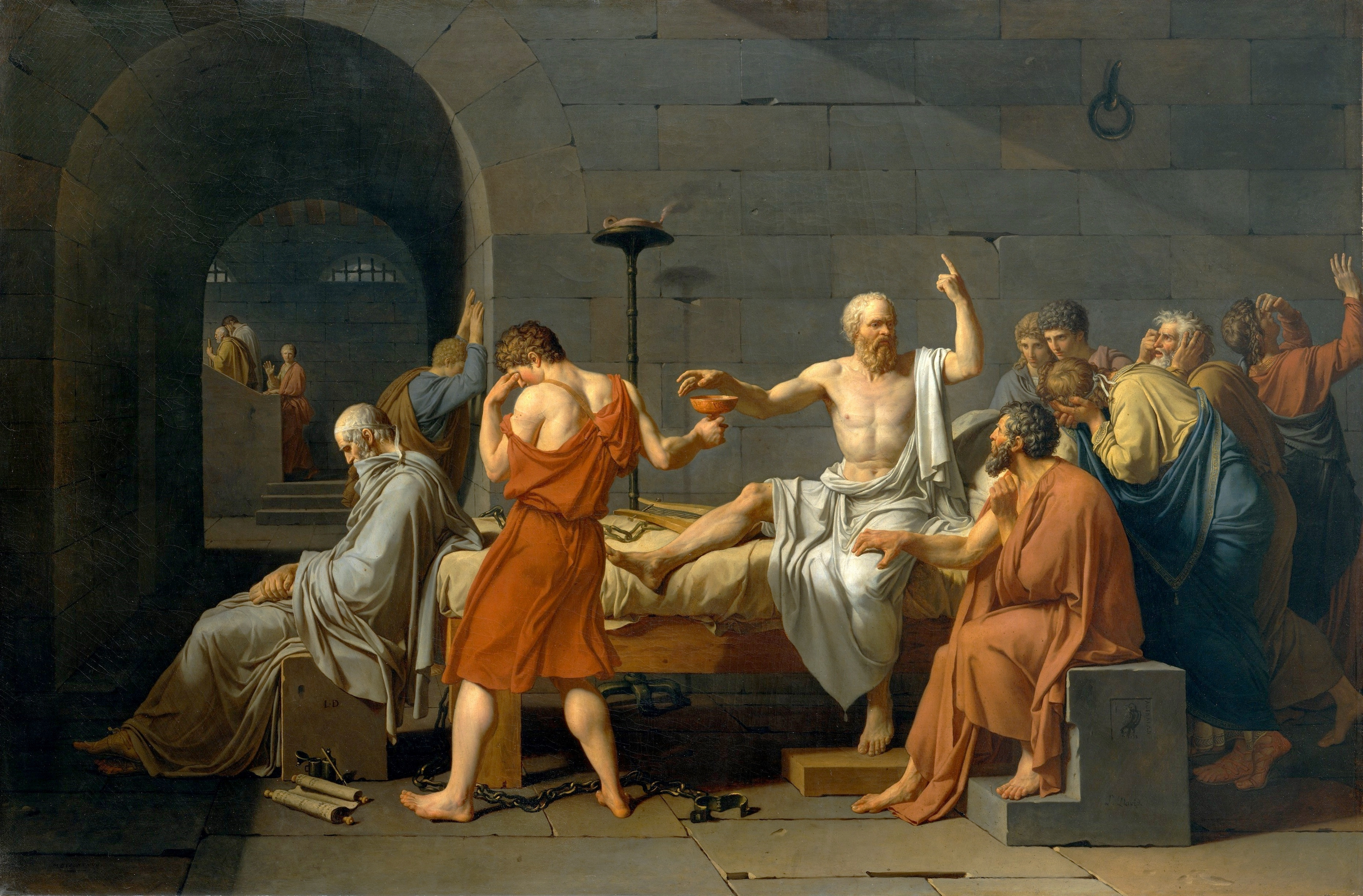the challenge of socrates a reflection on philosophy and the polis  jacques louis david the death of socrates 1787