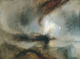 William Turner, now Storm: Steam-Boat off a Harbour's Mouth, 1842.