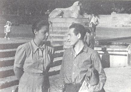 Rocco Scotellaro con Amelia Rosselli nel 1950. Fonte: http://www.centrodocumentazionescotellaro.org/documenti.asp