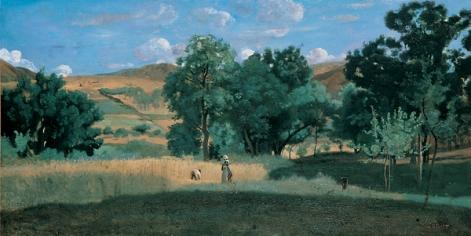 C. Corot_ Campo di grano nel Morvan